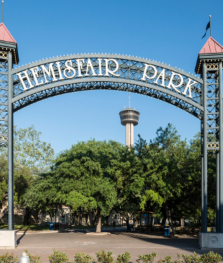 Hemisfair Park and the Tower of Americas