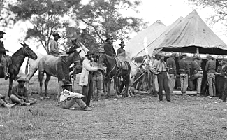 Soldiers in Camp at Wilderness