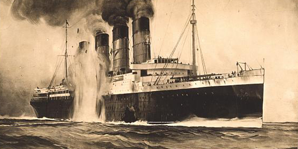 Sinking of the Lusitania, World War I