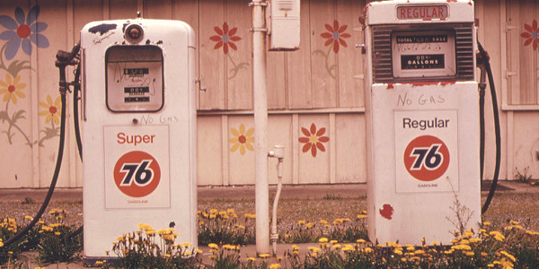 Closed Gas Station 1973 Oil Embargo