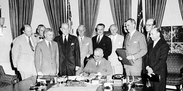 Signing of NATO Pact