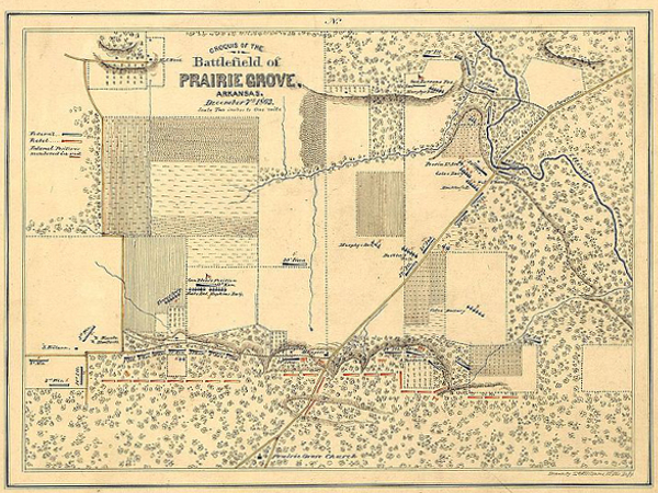 Sketch of the Battle of Prairie Grove