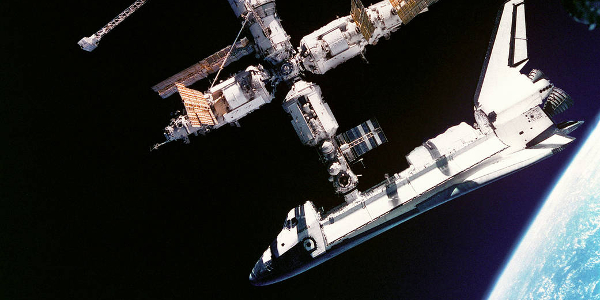 Space Shuttle Atlantis and Mir 1995
