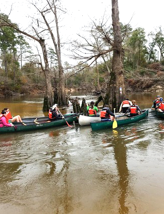 Canoes at Big Thicket National Preserve