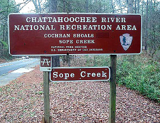 Chattahoochee River NRA Sign