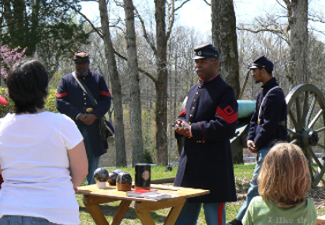 Reenactors at Fort Donelson
