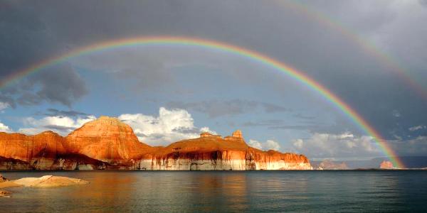 Rainbow at Glen Canyon National Recreation Area