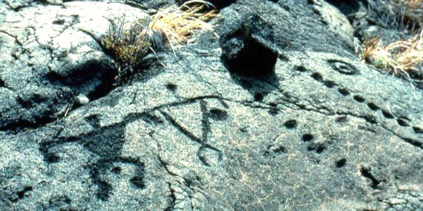 Rock Carvings at Hawaii Volcanoes National Park
