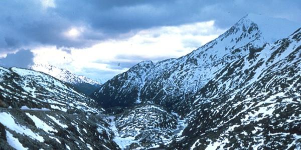 Mountains above Klondike Gold Rush