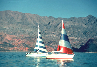 Boats on Lake Mead
