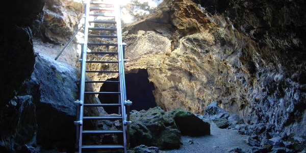 Blue Grotto Cave, Lava Beds National Monument