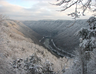 New River Gorge in Winter