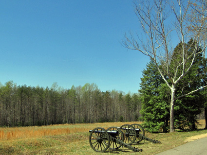 Artillery on Spotsylvania Battlefield