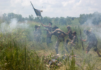 Reenactors of the Battle of Wilson's Creek