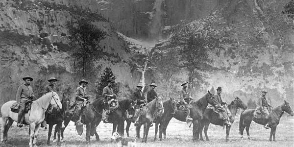 Yosemite Rangers on Horseback
