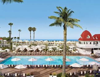 Hotel del Coronado pool and beach