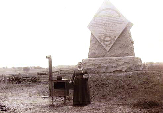 Josephine Miller and the 1st Massachusetts Monument dedication