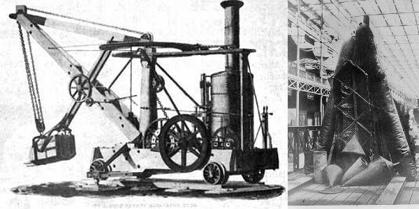Otis Steam Shovel, Goodyear Rubber Boat