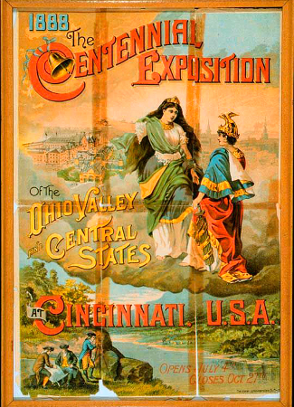 Poster of the Centennial Exposition of the Ohio Valley and Central States