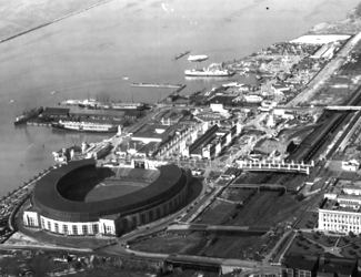 Aerial view of the Great Lakes Exposition