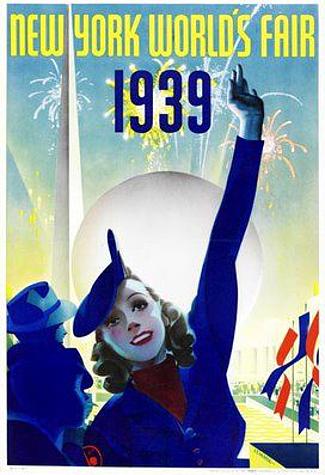 Interior New York World's Fair 1939 Poster