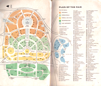 Map of the New York World's Fair 1964