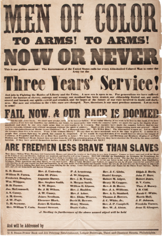 Poster for USCT Troops