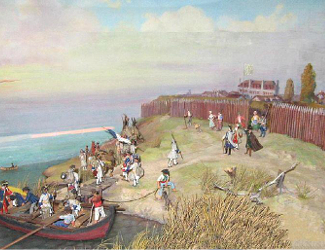 Drawing of Fort Niagara