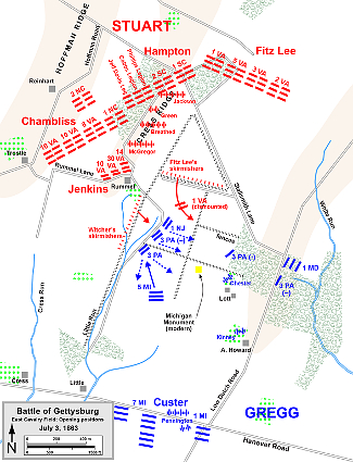Unit Positions East Cavalry Field