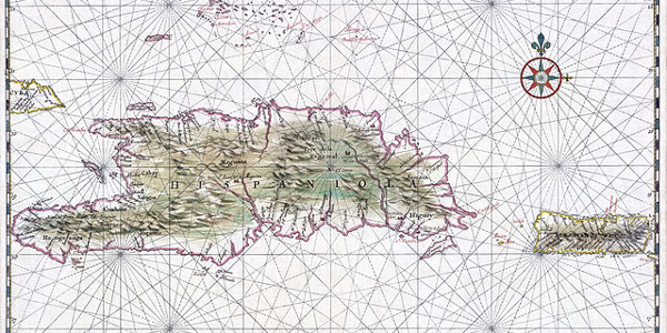 Map of Hispaniola and Puerto Rico