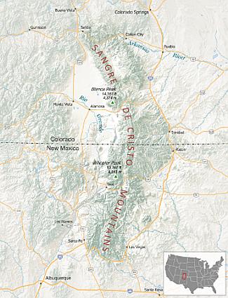 Rio Grande del Norte Mountains