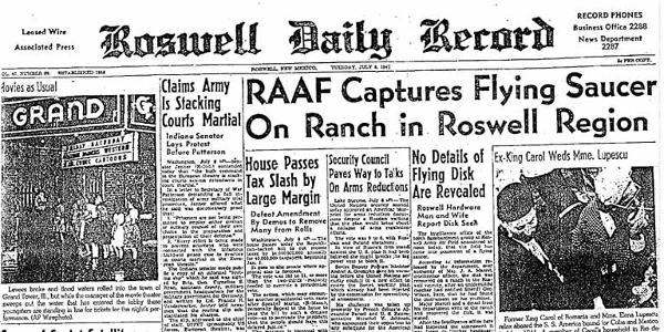 Roswell Newspaper Account