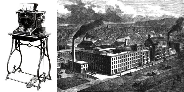 Sholes/Remington Typewriter and Remington Factory