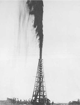 Spindletop Oil Strike 1901
