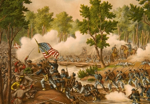 Illustration of the Battle of Spotsylvania