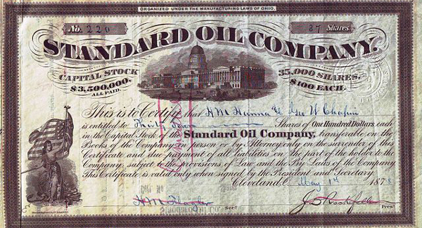 Standard Oil Share 1878