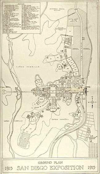 Map of the Panama-California Exposition 1915-16
