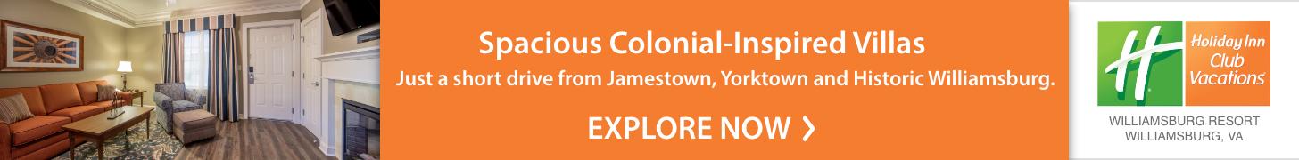 Williamsburg Resort Lodging for Jamestown and Yorktown