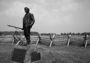 John Burns statue on McPherson Ridge