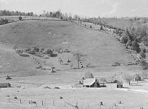 Farm along the Blue Ridge Parkway