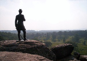 Warren Statue on Little Round Top