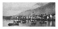 Thlinget Indian Village, Sitka, Alaska, early 20th century.