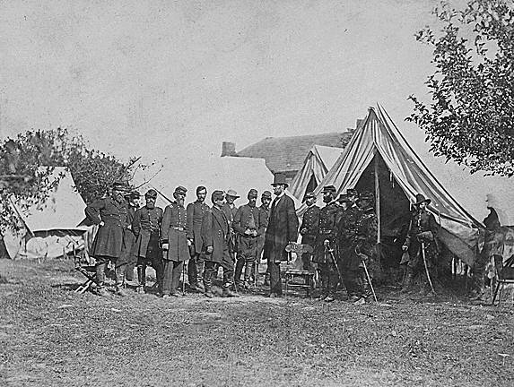 Lincoln & his generals after the battle of Antietam