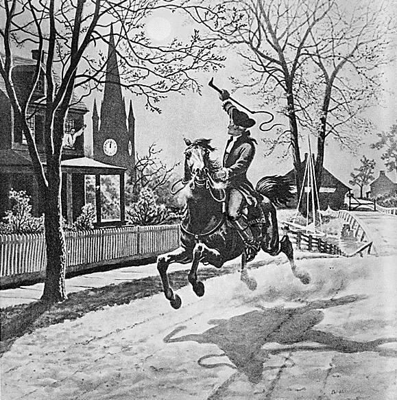Paul Revere Drawing.