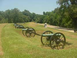 Gun battery at Vicksburg National Military Park