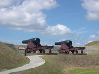 Fort Moultrie cannon in Fort Sumter National Monument